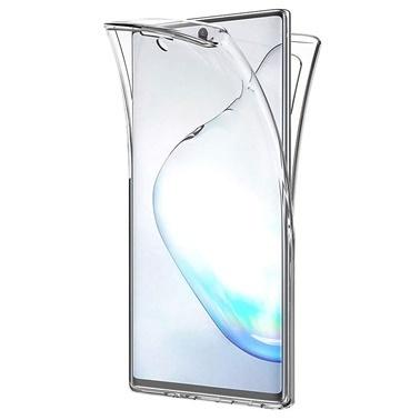 Microsonic Samsung Galaxy Note 10 Plus Kılıf 6 tarafı tam full koruma 360 Clear Soft Şeffaf Renksiz